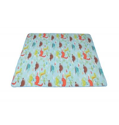 Yodo Picnic Mat Tikar Waterproof Foldable Blanket for Outdoor Family Beach Travel Cute Cartoon Car / Dinosaur Camping Mattress