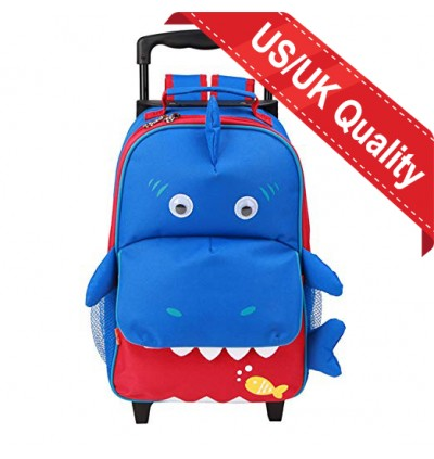[Stock Clearance] Yodo Baby Shark 3-Way Kids Rolling Trolley Luggage or Kids Backpack with Wheels for Boys Girls