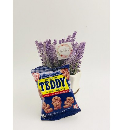 (10 Packs) Chocolate Biscuits Teddy Bear for Kids