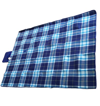 (XL) Yonovo Checkers Blue Picnic Mat
