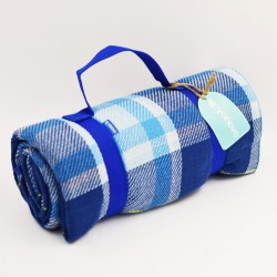Yonovo Checkers Blue Picnic Mat