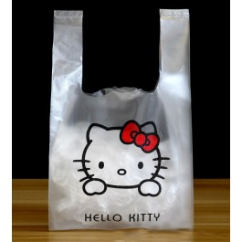 50pcs Hello Kitty Plastic Bag, Goodies Bags, Kindergarten Gift, Doorgift for Kenduri, Birthday Party, Food and Event