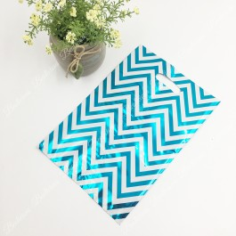 10pcs Zig Zag Party Bag, Plastic Beg, Goodies Bags, Kindergarten Gift, Doorgift for Kenduri, Birthday Party, Food and Event