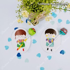 50pcs Boy Girl Lollipop Cards Packaging Party Doorgift / Decoration for Birthday, Wedding, Baby Shower Event