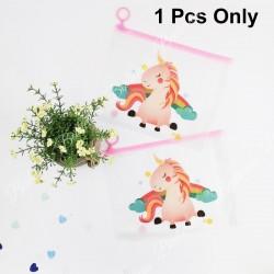 Unicorn folder pink - Transparent pencil case, zipper bag, file beg, cute cover