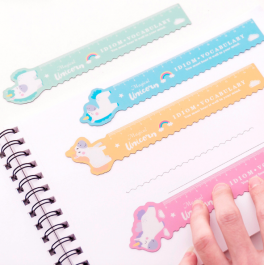 Cute Unicorn Magnetic Ruler Office 15cm Ruler For Students Creative Stationery