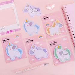 Unicorn Sticky Note Cute Stationery Memo Pad
