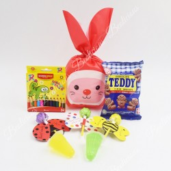 Ready Pack Rabbit Nose Gift Set Kids Birthday Present Goodies Bag For Kindergarten Event