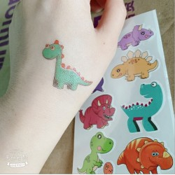 (10pcs) Dinosaur Temporary Tattoo Cute Removable Fake Tattoos For Birthday Party
