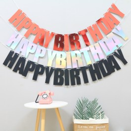 Happy Birthday Bunting Flag - Party Banner (2 meter rope)