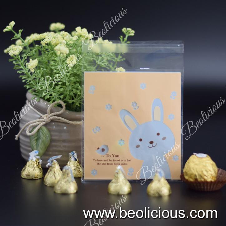 100pcs Simple Rabbit / Bear Kuih Raya Packaging, Cookies Plastic Bag or Biscuit Packaging Doorgift for Wedding, Birthday Party Event